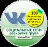 Продвижение в ВКонтакте-100-друзей / 100-групп